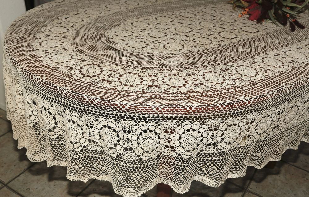 Lovely Vintage Floral Handmade Cotton Fine Crochet Lace Crochet Lace Tablecloths Of Luxury 47 Images Crochet Lace Tablecloths