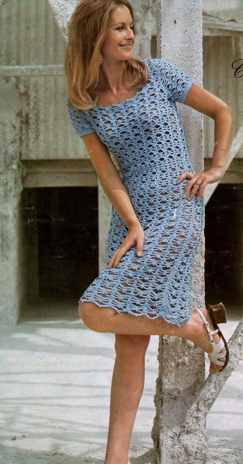 Lovely Vintage Knit N Crochet Instant Downloadable Pattens Crochet Dress Of Awesome 50 Pictures Crochet Dress