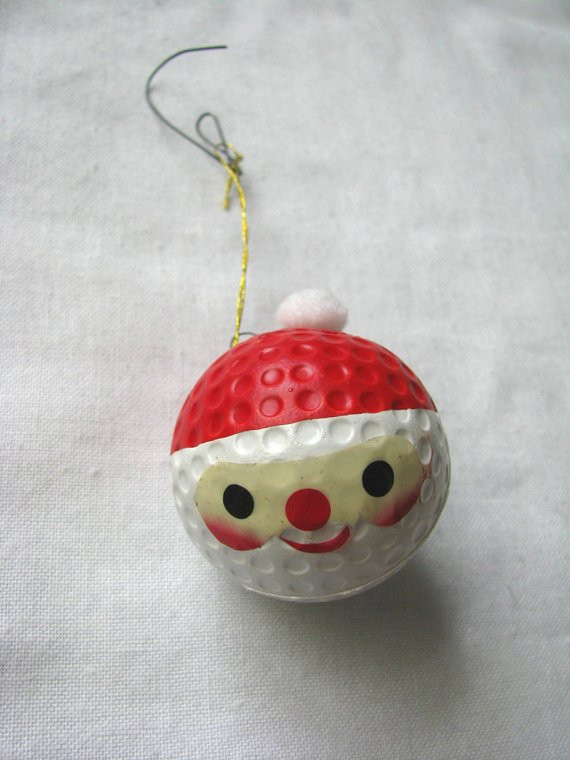 Lovely Vintage Painted Santa Face Golf Ball Holiday ornament Santa Face ornaments Of Great 48 Photos Santa Face ornaments