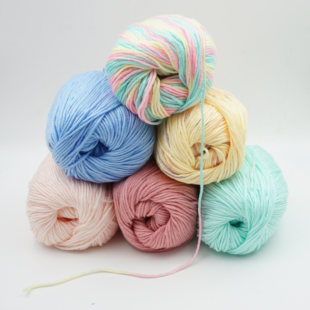 Lovely wholesale 10 Pieces 50g Yarn for Knitting to Knit Cashmere Discount Yarn Bulk Of Adorable 46 Models Discount Yarn Bulk