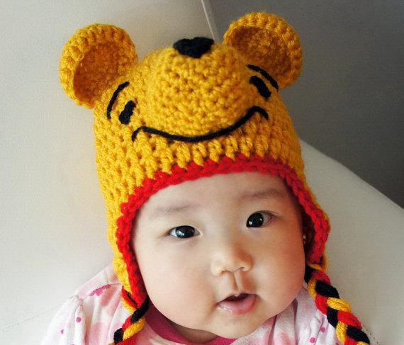 Lovely Winnie the Pooh Hat Crochet Baby Hat Bear Baby Hat Animal Baby Animal Hats Of Attractive 49 Images Baby Animal Hats