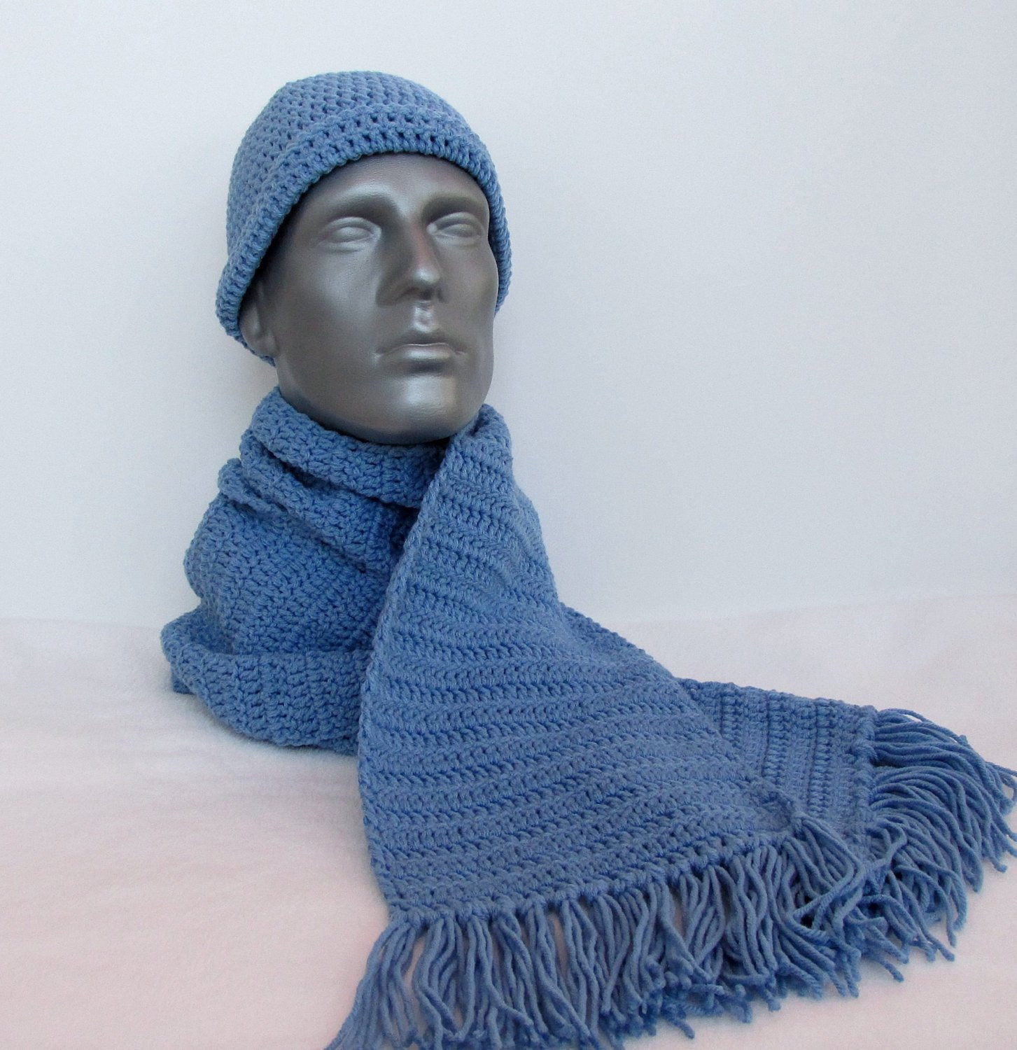 Lovely Winter Hat and Scarf Set In Blue Crochet Hat Scarf for Men Crochet Hat and Scarf Set Of Amazing 44 Models Crochet Hat and Scarf Set
