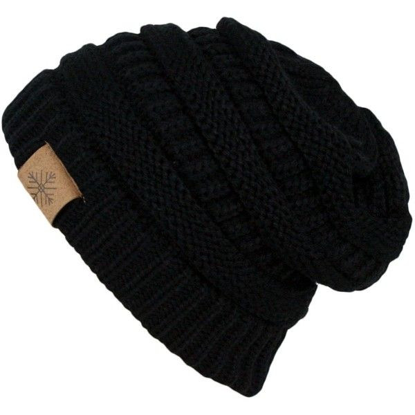 Lovely Winter Warm Thick Cable Knit Slouchy Skull Beanie Cap Hat Black Slouchy Beanie Of Great 40 Models Black Slouchy Beanie