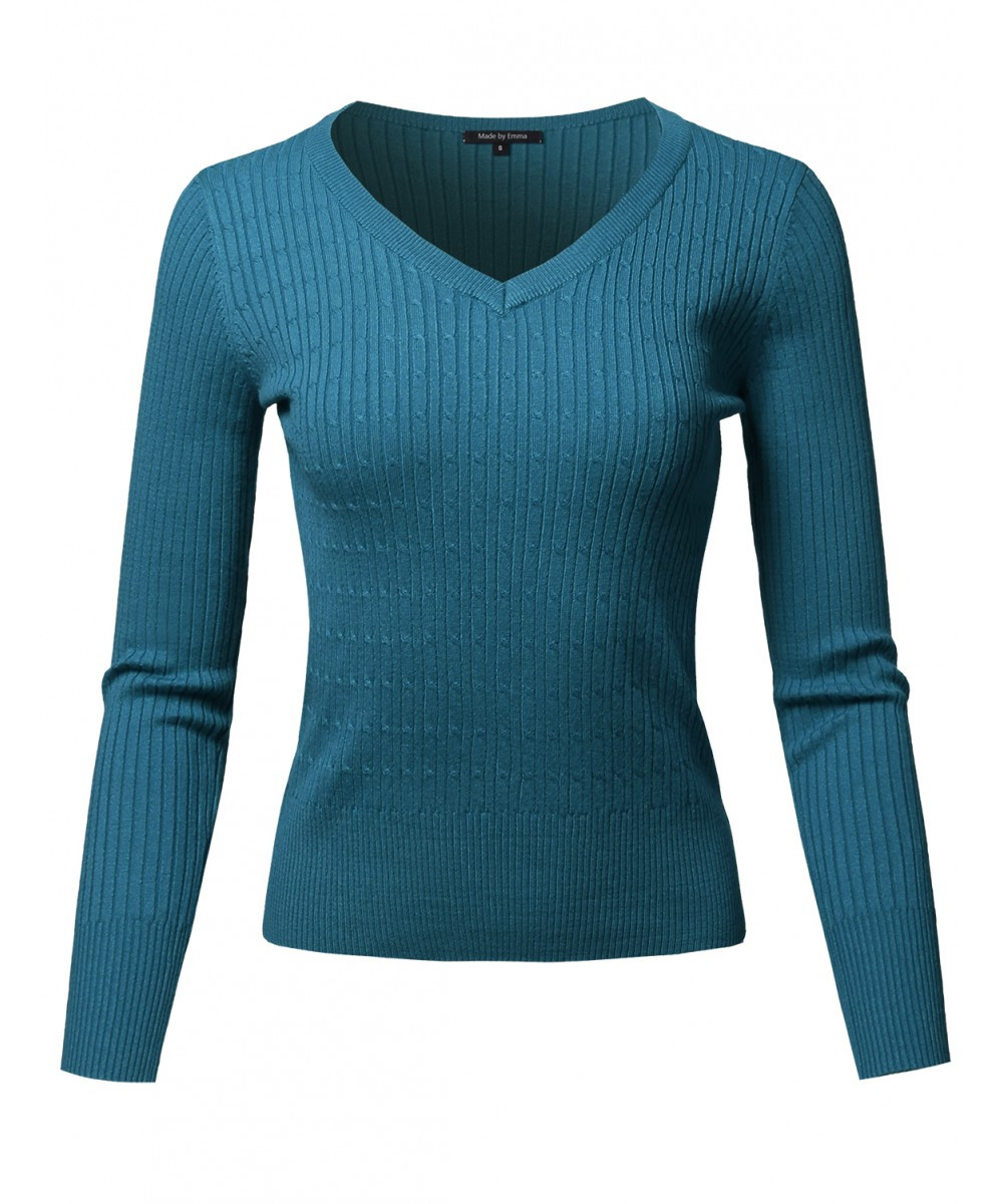 Lovely Women S Basic Long Sleeve V Neck Cable Knit Classic V Neck Cable Knit Sweater Of Great 44 Pictures V Neck Cable Knit Sweater