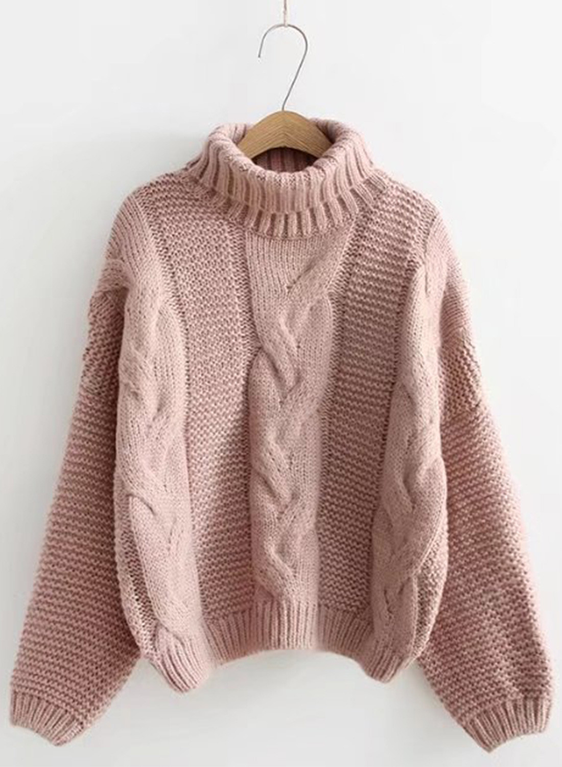 Lovely Women S Fashion High Neck Cable Knit Pullover Sweater Ladies Cable Knit Sweater Of Charming 49 Photos Ladies Cable Knit Sweater