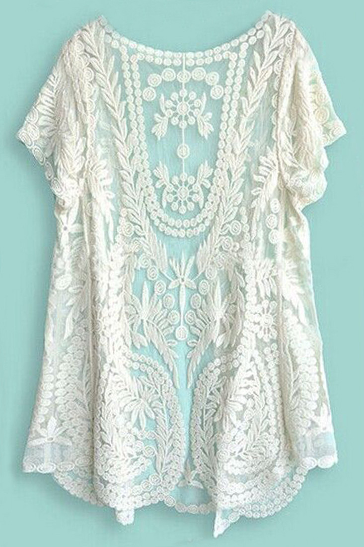 Lovely Women S Sweater with Lace Sleeves Long Sweater Jacket Crochet Lace Cardigan Of Great 45 Images Crochet Lace Cardigan