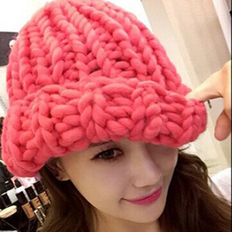 Lovely Women Winter Warm Hat Handmade Knitted Coarse Lines Cable Crochet Group Of Amazing 46 Pictures Crochet Group