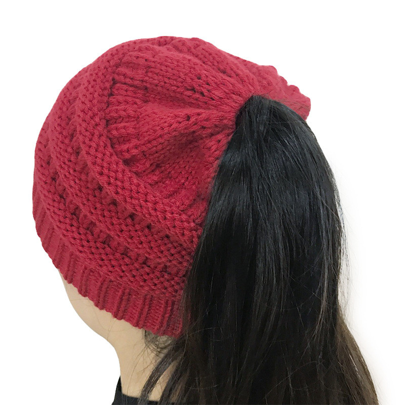 Lovely Womens Beanie Tail Messy soft Bun Hat Ponytail Stretchy Beanie with Hole for Bun Of Great 40 Pics Beanie with Hole for Bun