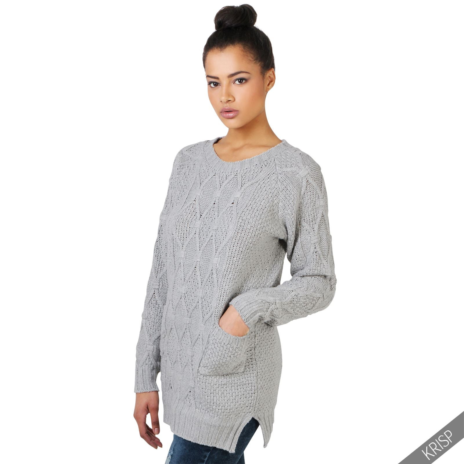 Lovely Womens Chunky Cable Knit Baggy Long Winter Jumper La S Ladies Cable Knit Sweater Of Charming 49 Photos Ladies Cable Knit Sweater
