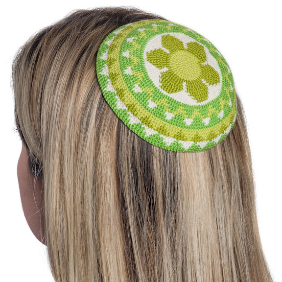 Lovely Women's Crochet Flower Kippot Judaica Fair Trade Crochet Kippot Of Amazing 42 Ideas Crochet Kippot