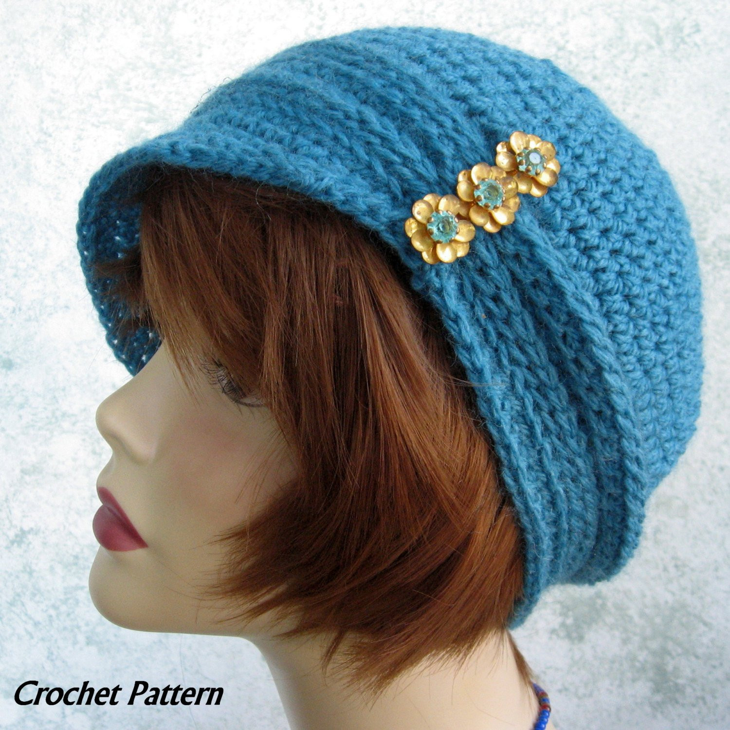 Lovely Womens Crochet Hat Pattern Cloche with Ribbing and Small Brim Ladies Crochet Hats Of Contemporary 46 Pics Ladies Crochet Hats