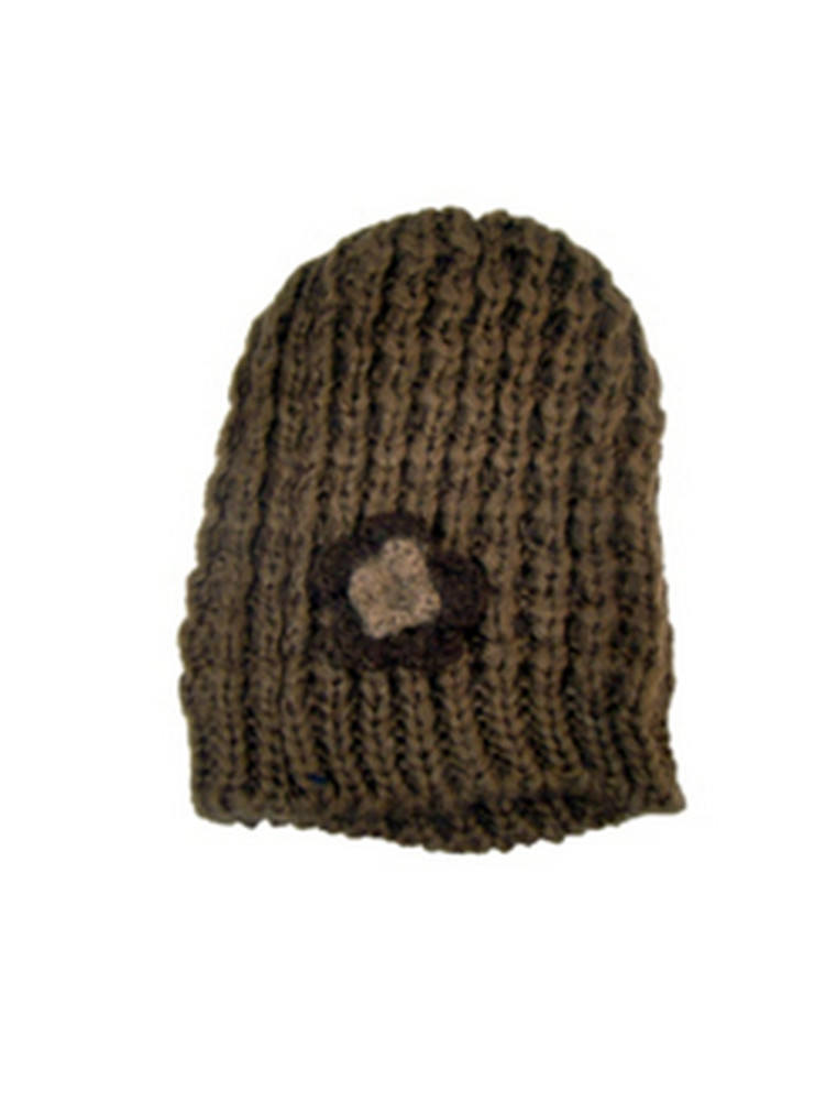 Womens La s Chunky Cable Knit Beanie Hat Two Tone