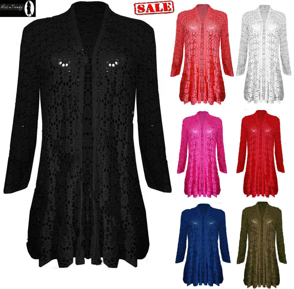 Lovely Womens La S Waterfall Lace Crochet Bolero Drape Long Crochet Lace Cardigan Of Great 45 Images Crochet Lace Cardigan