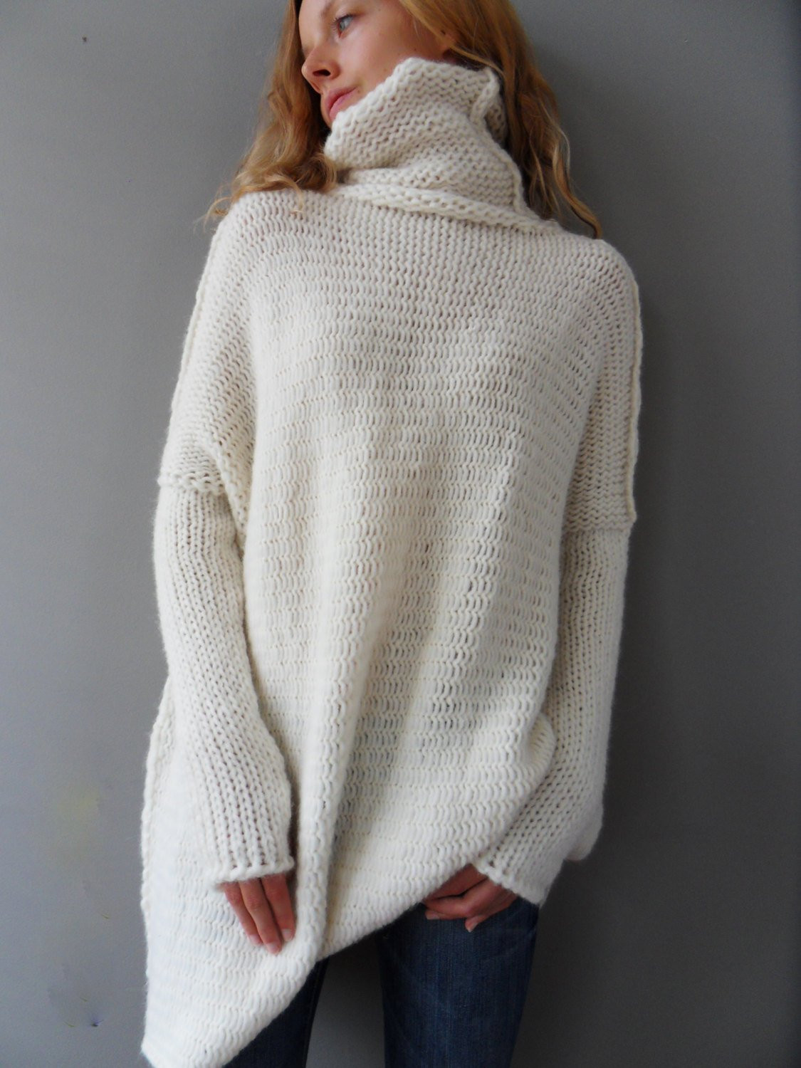 Womens Oversized Chunky Cable Knit Sweater Bronze Cardigan