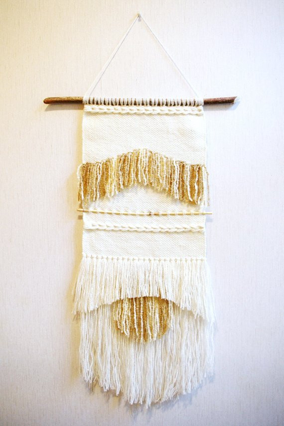 Woven tapestry wall weaving wall hanging wall by Delekselja