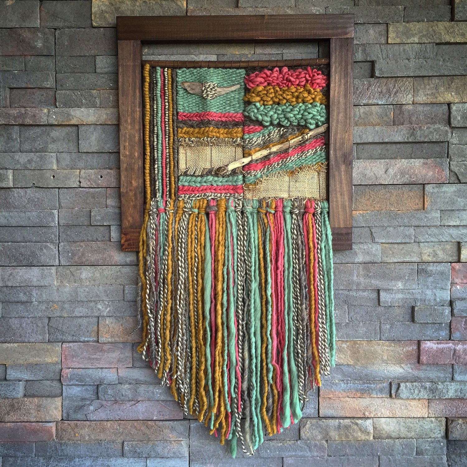 Lovely Woven Wall Hanging by Telaresyflecos On Etsy Weaving Wall Hanging Of Brilliant 43 Models Weaving Wall Hanging