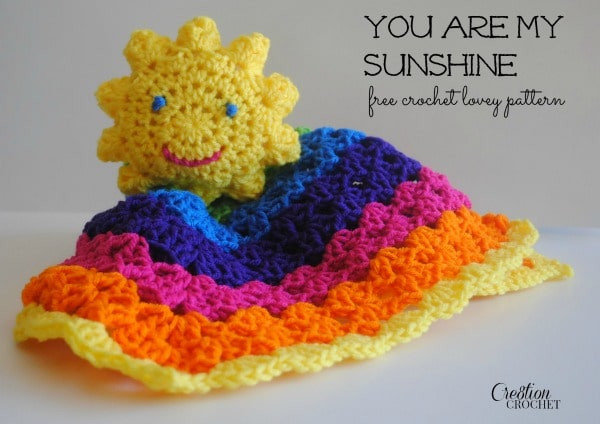 Lovely You are My Sunshine Lovey Cre8tion Crochet Crochet Lovey Pattern Of Attractive 43 Photos Crochet Lovey Pattern