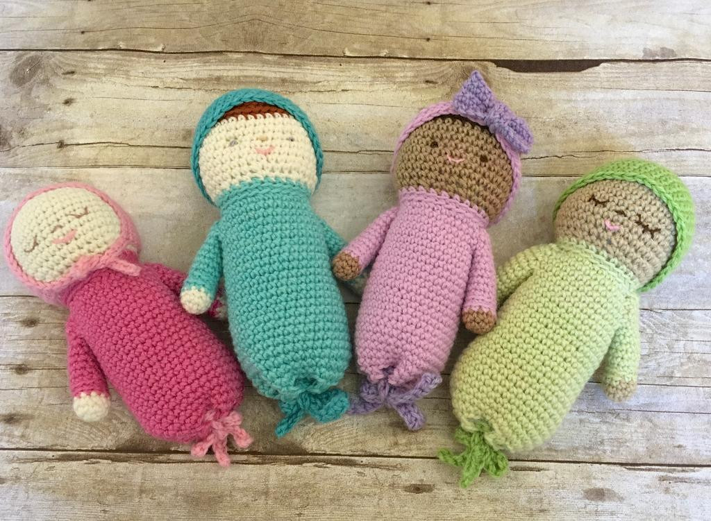 You have to see Crochet Baby Doll Patterns by Amy Gaines