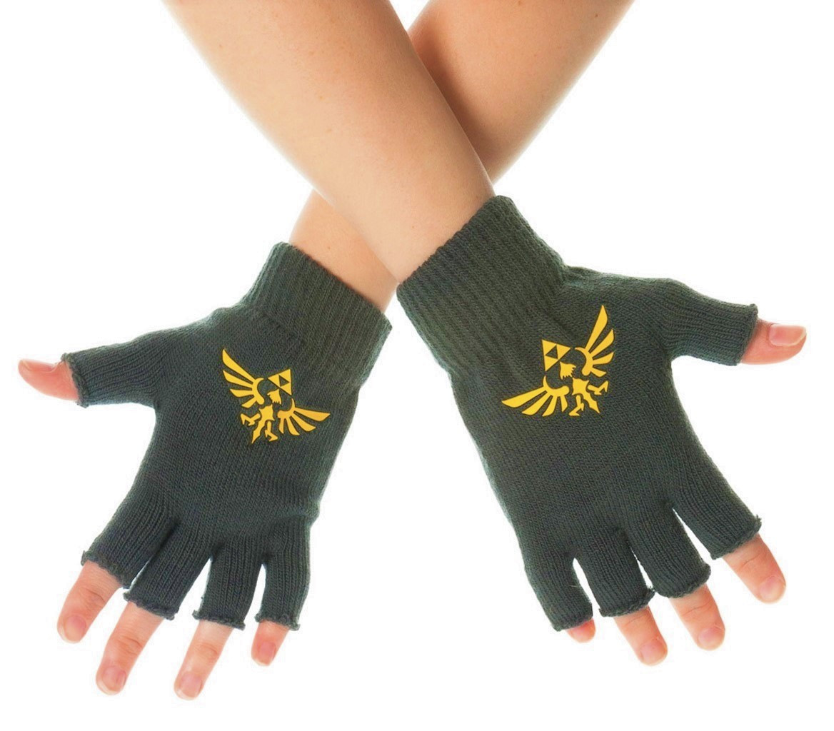 Lovely Zelda Fingerless Gloves with Printed Hylian Crest Fingerless Gloves Mittens Of Awesome 47 Models Fingerless Gloves Mittens