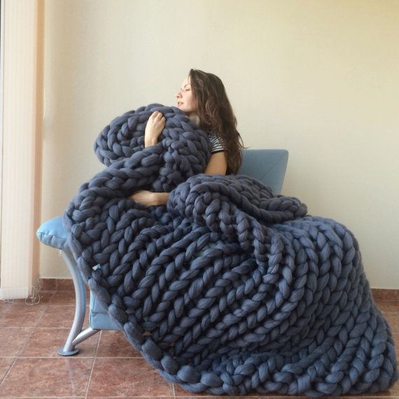 1000 ideas about Chunky Knit Blankets on Pinterest