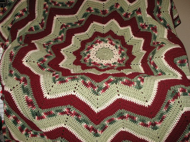 Luxury 1000 Images About Afghans Round Ripple Crochet On Round Crochet Blanket Pattern Of Wonderful 41 Models Round Crochet Blanket Pattern