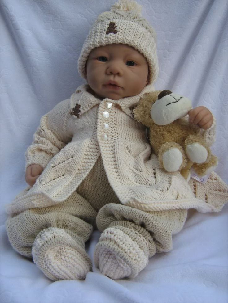 Luxury 1000 Images About Reborn Baby Doll Patterns On Pinterest Knitted Baby Dress Of Brilliant 49 Photos Knitted Baby Dress