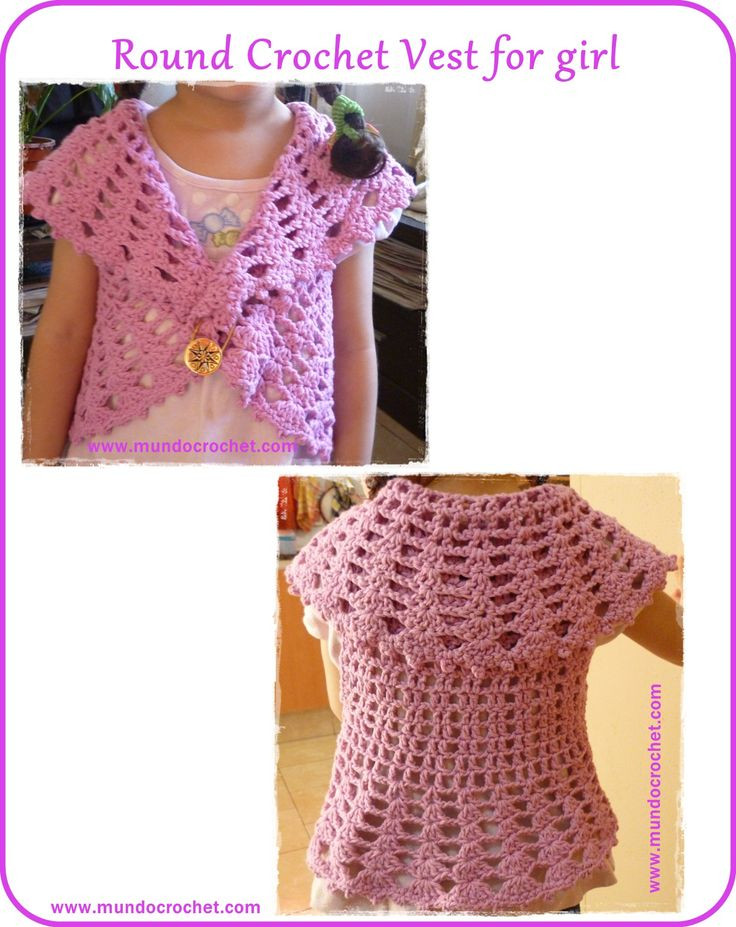 Luxury 1000 Images About Round Crochet Vest for Girl On Girls Crochet Vest Of Charming 44 Pictures Girls Crochet Vest
