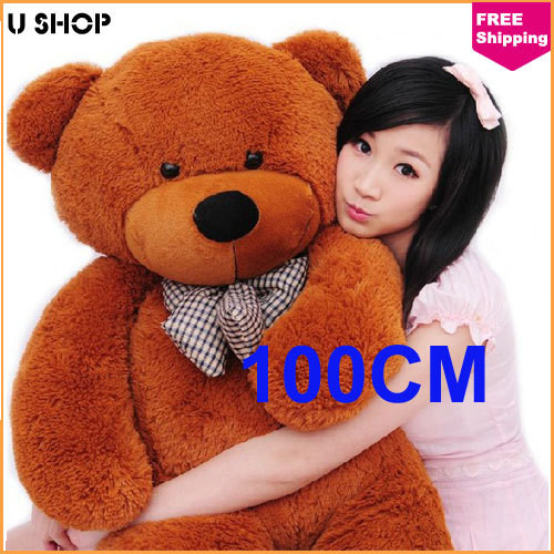 100cm Brown Life Size Doll Plush Teddy Bear For Sale