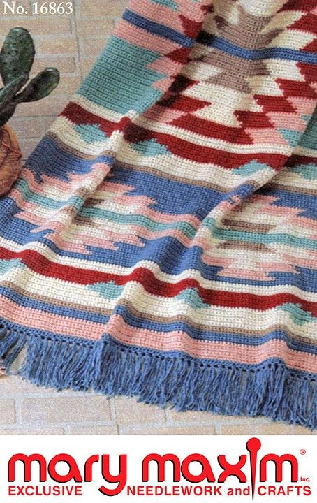 123 best Crochet Indian Blankets Pillow & Rugs images on