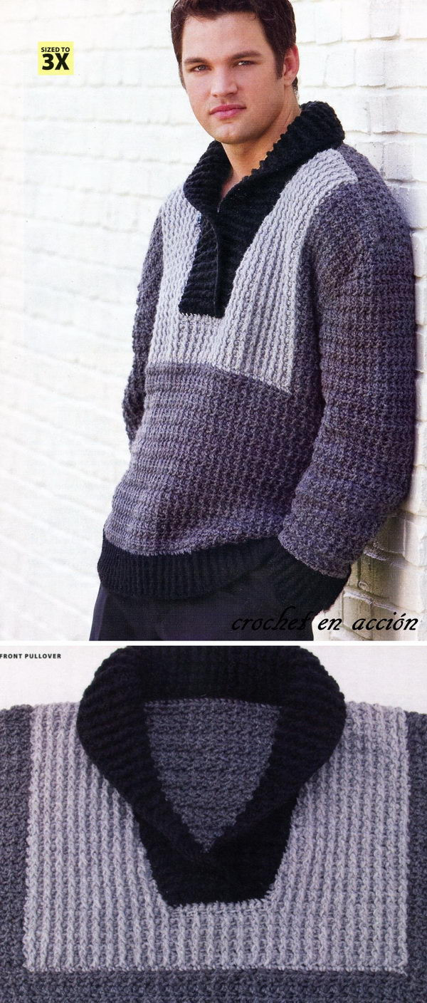 Luxury 15 Crochet Men Sweater Patterns 2017 Crochet Mens Sweater Of Attractive 49 Pictures Crochet Mens Sweater