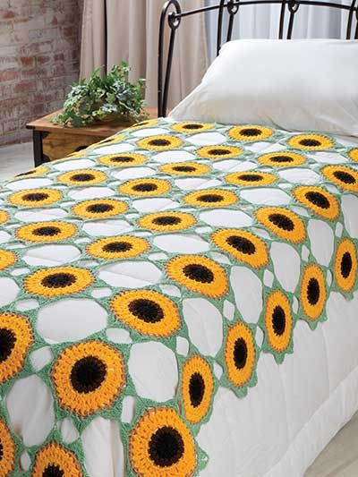 Luxury 17 Best Images About Crochet Sunflowers On Pinterest Sunflower Afghan Of Delightful 32 Pics Sunflower Afghan