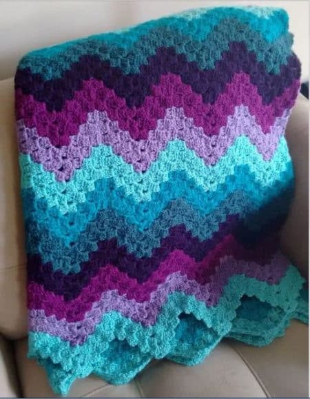 Luxury 17 Easy Ripple Crochet Blankets to Make to Brighten Any Round Afghan Crochet Pattern Of Great 44 Photos Round Afghan Crochet Pattern