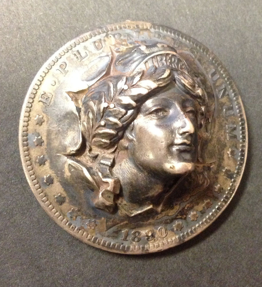 Luxury 1890 Us Morgan Dollar Repousse 3d Pop Out Brook Lady Lady Liberty Dime Of Adorable 45 Pics Lady Liberty Dime