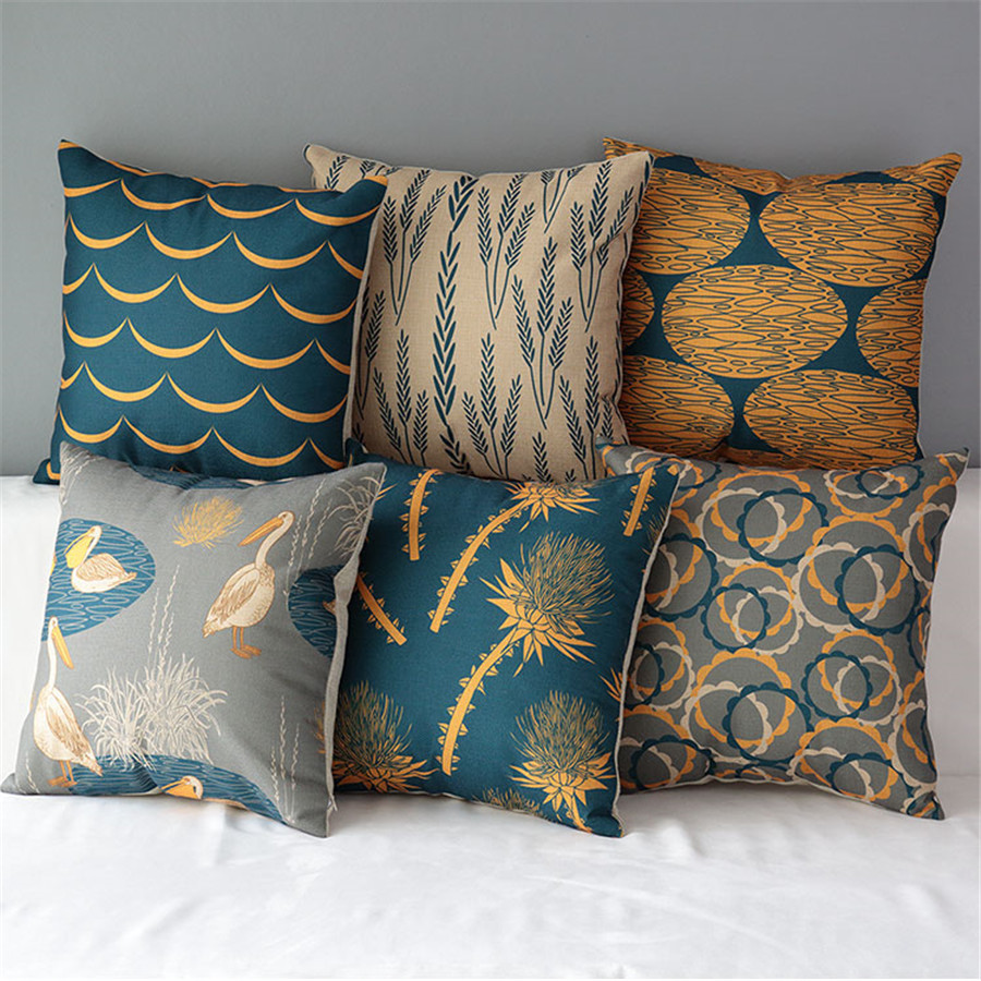 """Luxury 18"""" Square Natural Colourful Cotton Linen Cushion sofa Patterned Throw Of Amazing 40 Photos Patterned Throw"""
