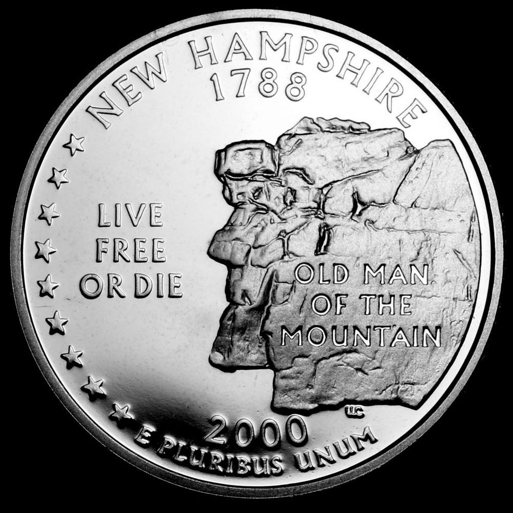 Luxury 2000 S New Hampshire State Mint Silver Proof Statehood State Quarter Mintage Of Unique 41 Models State Quarter Mintage