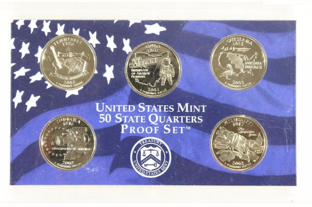 Luxury 2002 Us 50 State Quarters Proof Set No Box Us State Quarter Collection Of Charming 49 Ideas Us State Quarter Collection