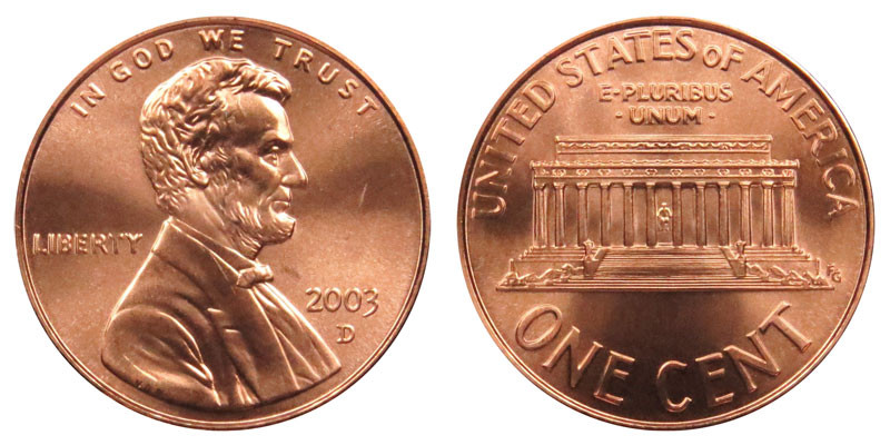 Luxury 2003 D Lincoln Memorial Cent Copper Plated Zinc Penny Lincoln Cent Values Of Amazing 50 Images Lincoln Cent Values
