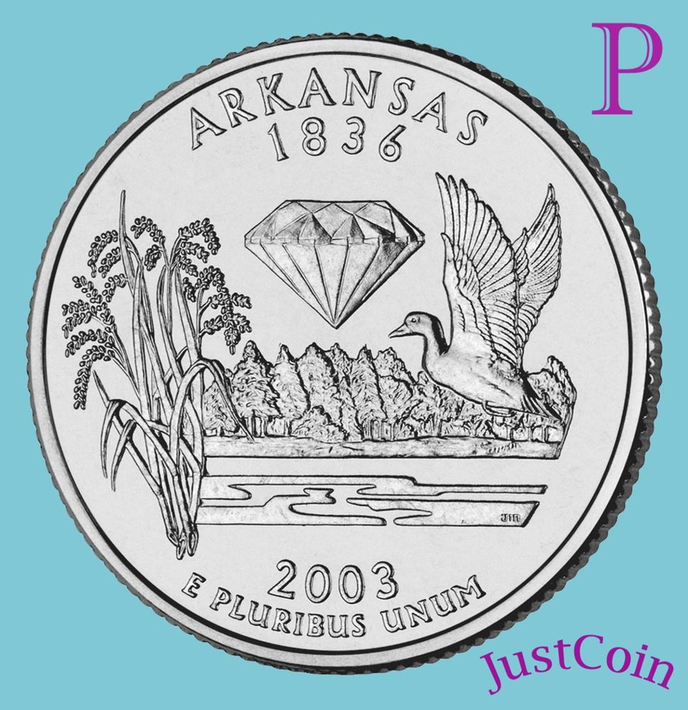 Luxury 2003 P Arkansas Ar State Quarter Uncirculated From U S State Quarter Mintage Of Unique 41 Models State Quarter Mintage