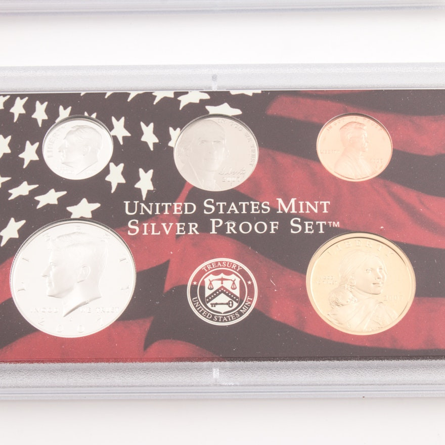 Luxury 2007 United States Mint Silver Proof Set Ebth United States Mint Proof Set Of Charming 43 Photos United States Mint Proof Set
