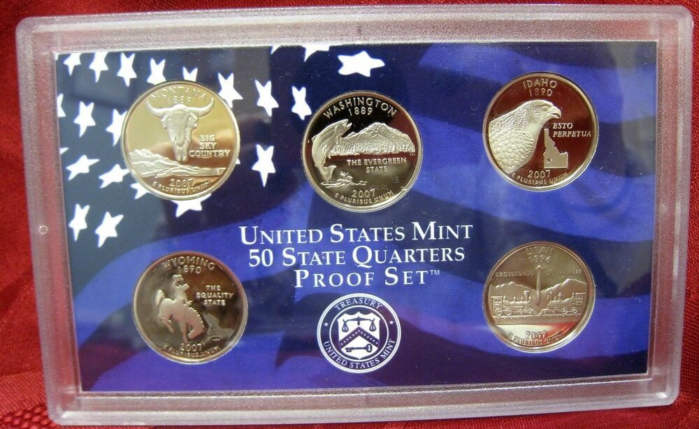 Luxury 2007 Us Mint 50 State Quarters Proof Set Uncirculated 5 50 State Quarter Collection Of Adorable 42 Pictures 50 State Quarter Collection