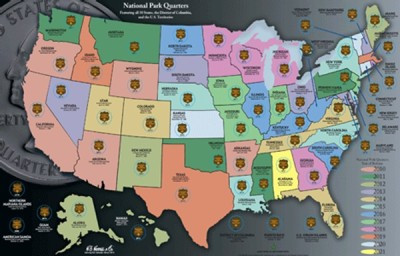 Luxury 2010 2021 Quarters Map America the Beautiful National Us State Quarter Collection Of Charming 49 Ideas Us State Quarter Collection