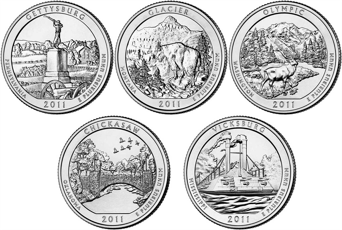 Luxury 2011 D Chickasaw Quarter Value America the Beautiful State Quarter Set Value Of Lovely 2014 D Everglades National Park Quarter Value America State Quarter Set Value