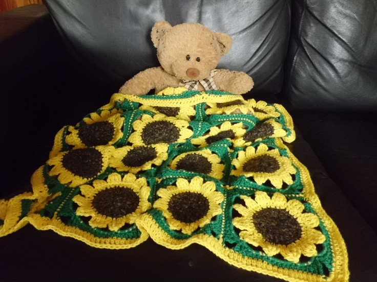 Luxury 202 Best Sunflowers Best Of the Best Board Images On Sunflower Crochet Blanket Of Elegant Hand Crocheted Sunflower Granny Square Blanket Afghan Throw Sunflower Crochet Blanket