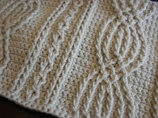 New Thick Cable Knit Throw Crochet Cable Blanket - Milcreations