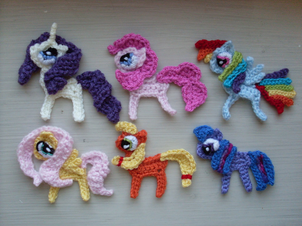 Luxury 2d Crocheted Mane 6 by Blondy1999 On Deviantart My Little Pony Crochet Pattern Of Brilliant 49 Ideas My Little Pony Crochet Pattern