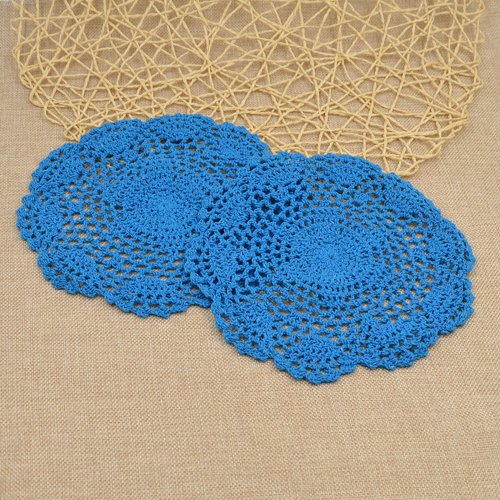 Luxury 2pcs Hand Crochet Cotton Table Placemat Round Table Mat Crochet Table Mat Of Gorgeous 47 Ideas Crochet Table Mat