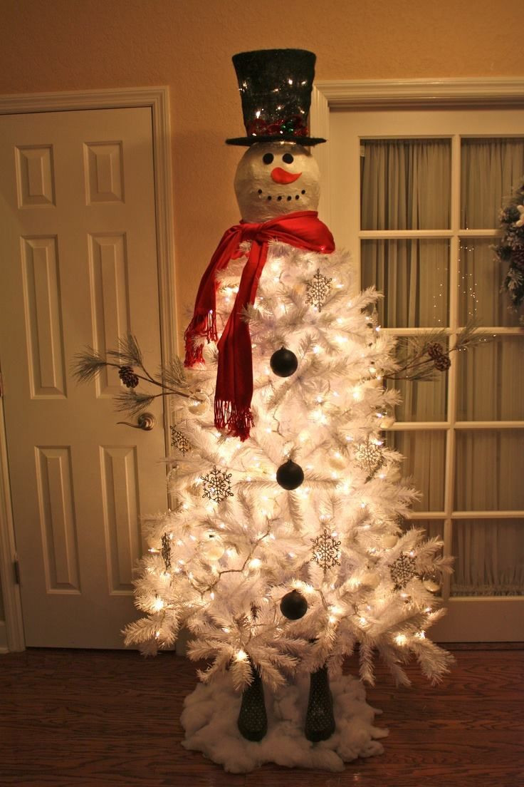 Luxury 31 Cute Snowman Christmas Decorations for Your Home Snowman Christmas Tree Decorations Of Adorable 46 Pictures Snowman Christmas Tree Decorations