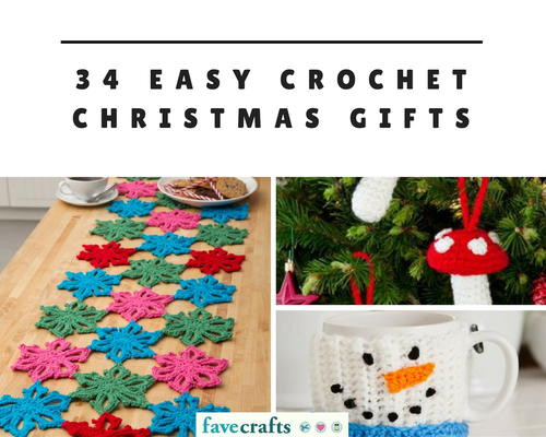 34 Easy Crochet Christmas Gifts