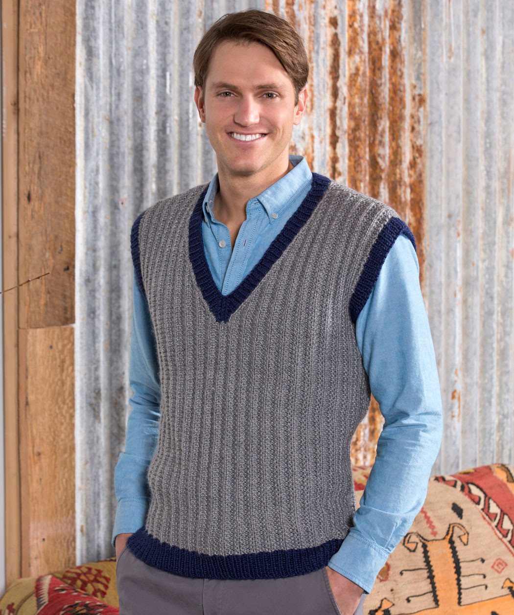 Luxury 36 Knit and Crochet Patterns for Men Knitted Vest Of Great 48 Pics Knitted Vest