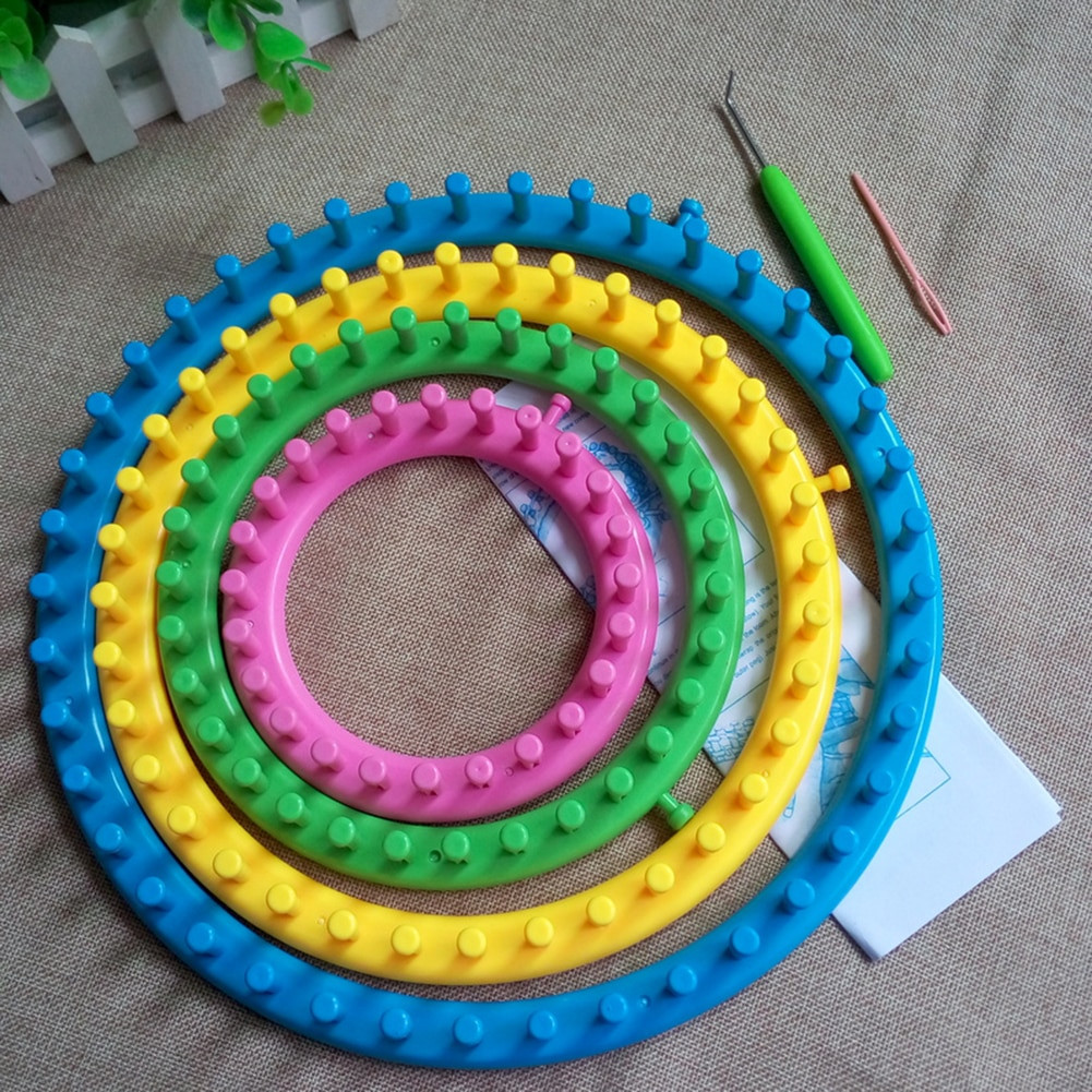 Luxury 4size Set Creative Classical Plastic Round Circle Hat Circle Loom Knitting Of Superb 50 Images Circle Loom Knitting